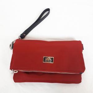 **SALE**Roots burgundy wallet/sac/makeup bag....